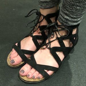 Strappy lace up Sam Edelman sandals
